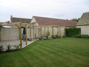 Lawn and Gazebo After