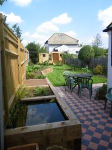 Back garden redesign side after