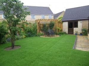 Garden 1 after a