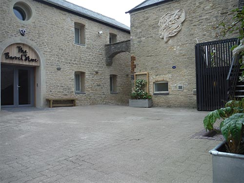 YHA Benches Courtyard