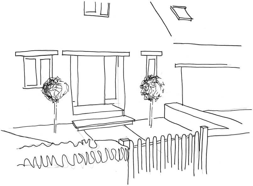 Park Lane Cottage - drawing